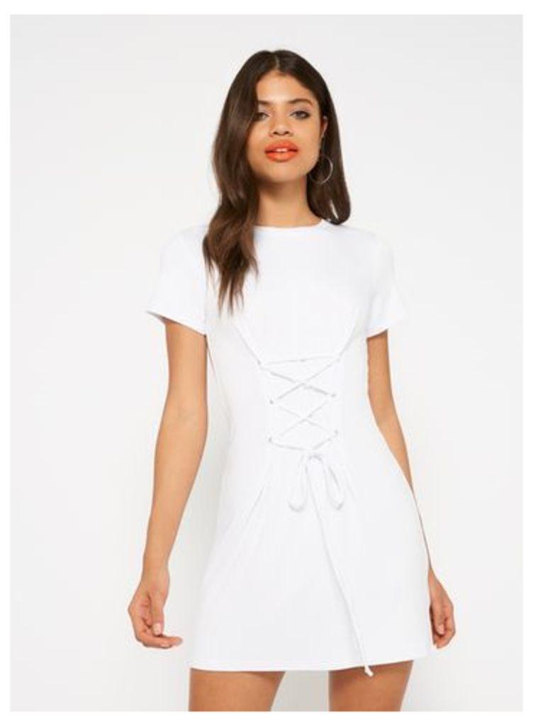 Womens White Corset Dress, White