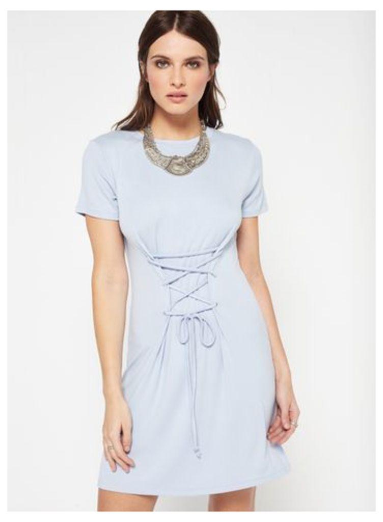 Womens Blue Corset Dress, Blue
