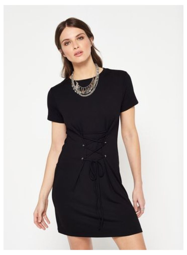 Womens Black Corset Dress, Black