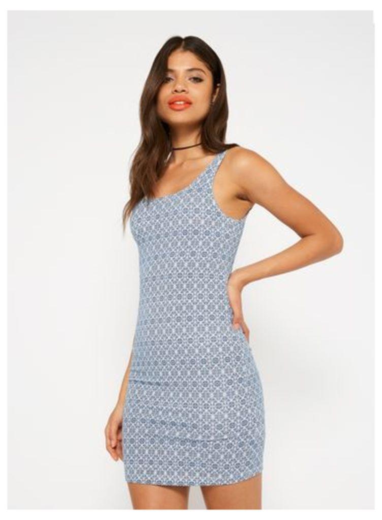 Womens Aztec Print Square Neck Dress, Assorted