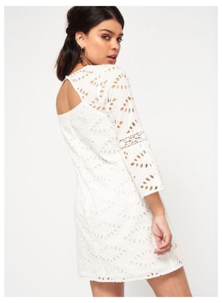 Womens PETITE Schiffley Dress, Ivory