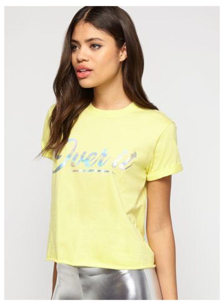 Womens Yellow Over It T-Shirt, Yellow