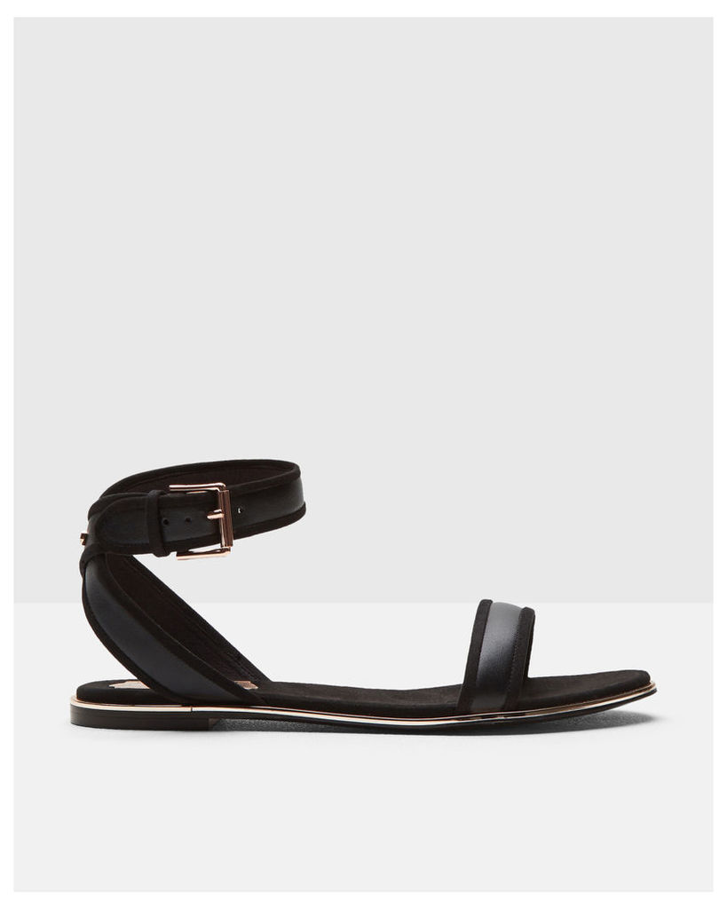 Ted Baker Cross-over strap leather sandals Black