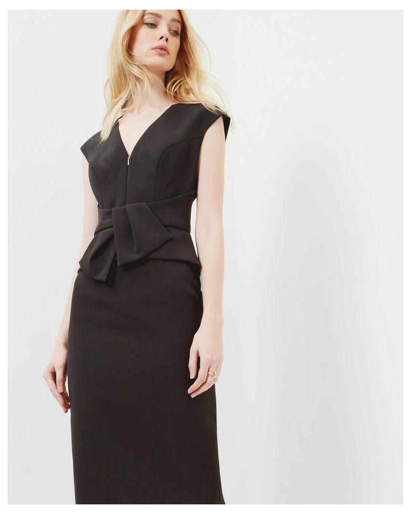 Ted Baker Peplum dress Black