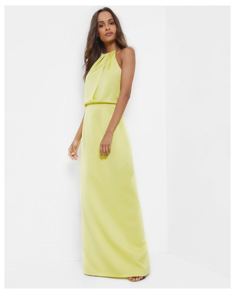 Ted Baker Chain neckline maxi dress Mid Green