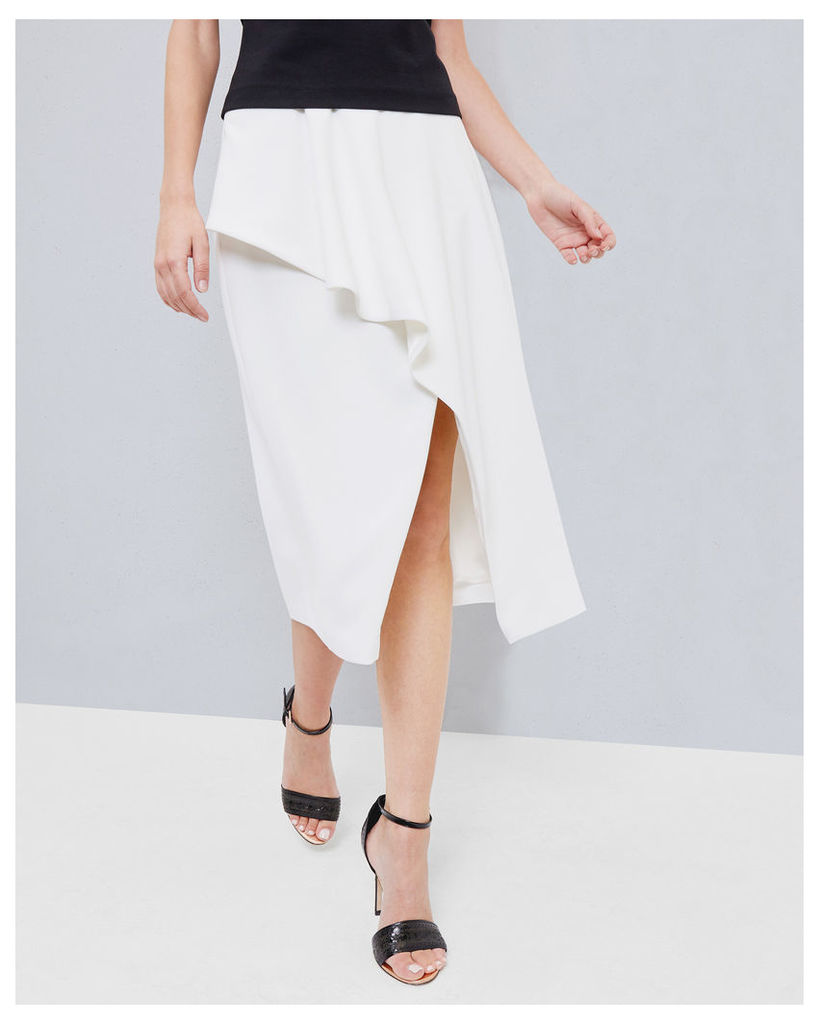 Ted Baker Frill front skirt Ivory