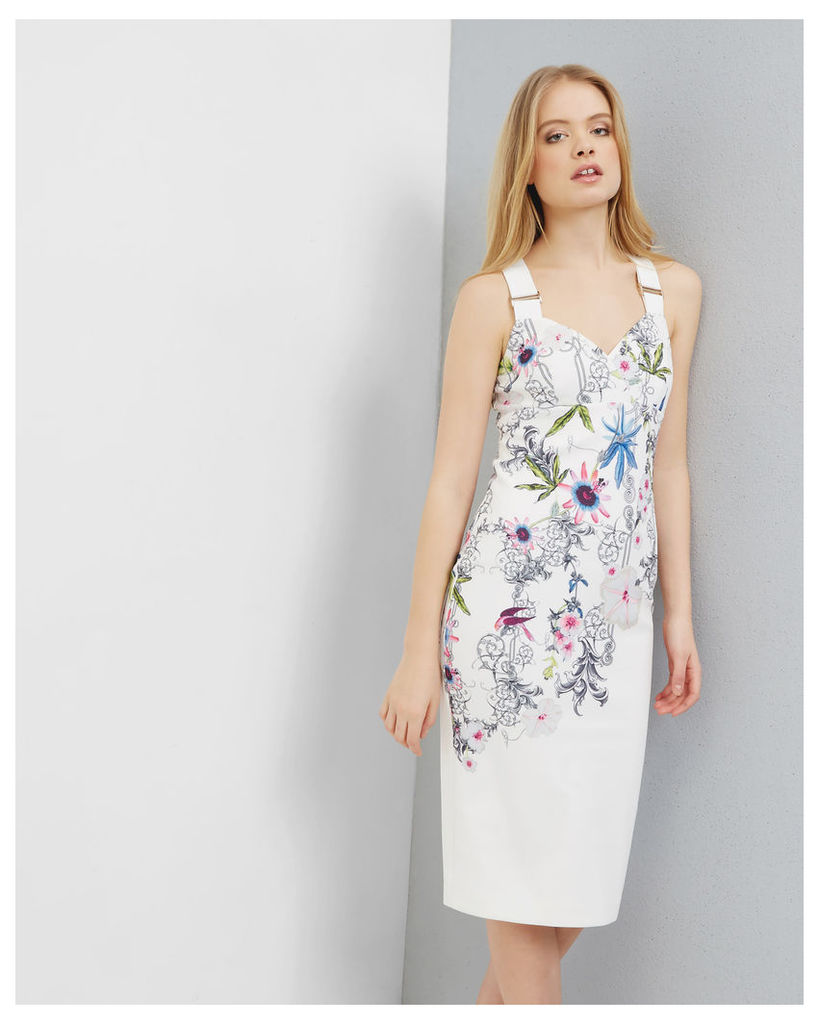Ted Baker Passion Flower bodycon dress Yellow