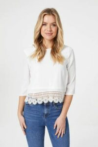 Crochet Hem Feature Back Top