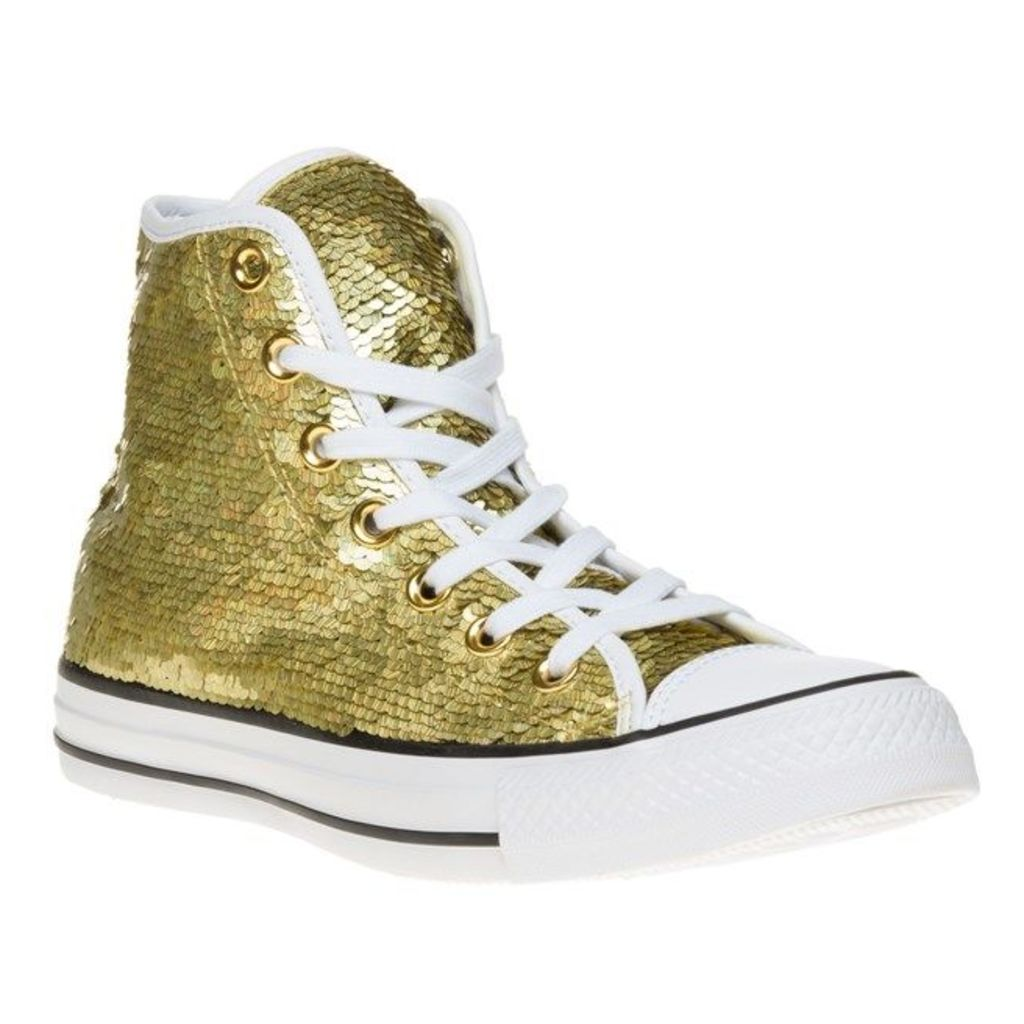 Converse All Star Hi Trainers, Gold/White/Black