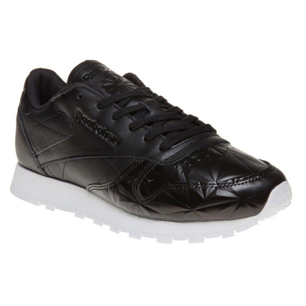 Reebok Classic Leather Hype Metallic Trainers, Black