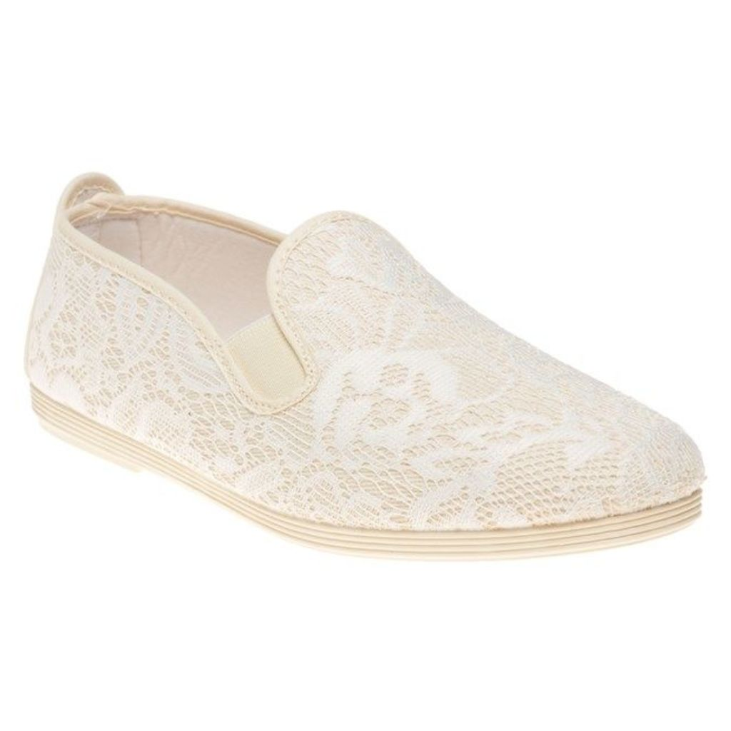 Flossy Classic Plimsoll Lodosa Shoes, Beige
