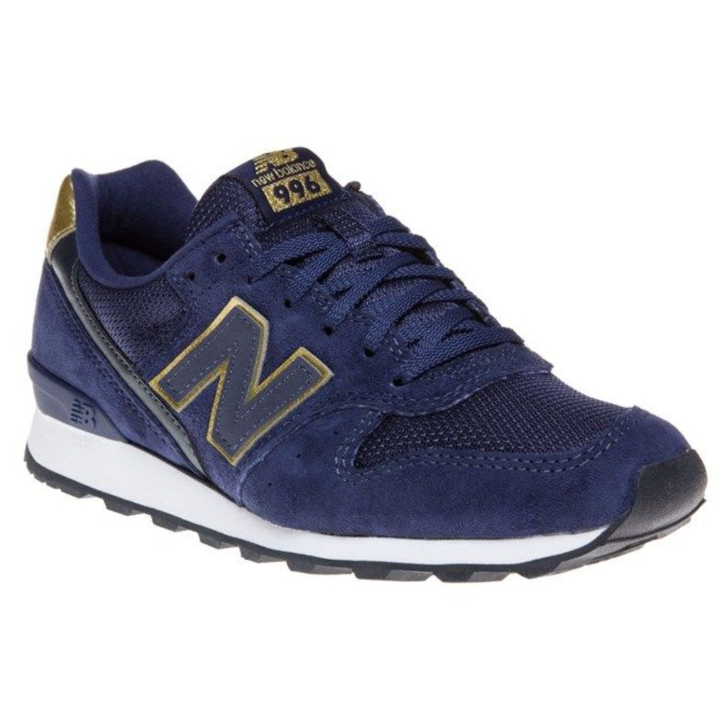 New Balance 996 Trainers, Navy/Gold