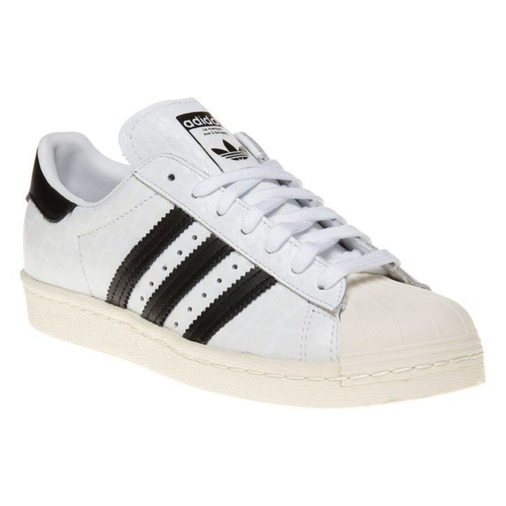 adidas Superstar 80's Trainers, White/Black