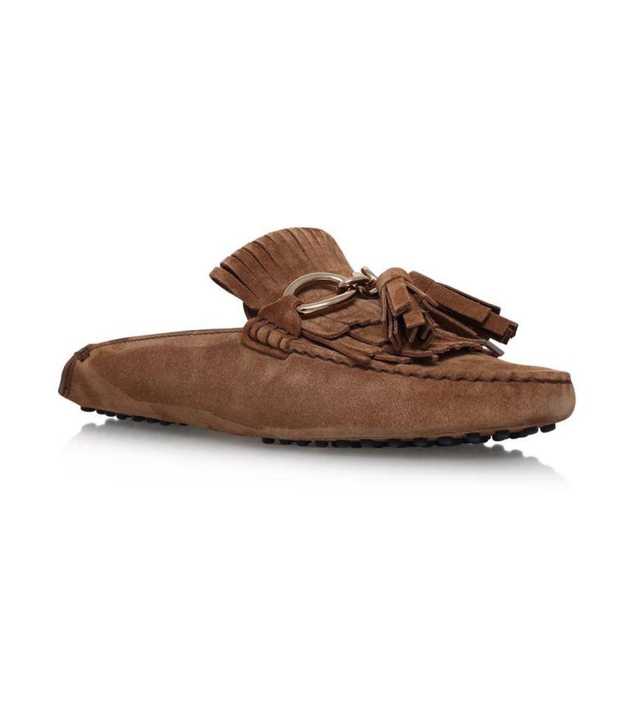 Tod'S, Gommino Pantofola Fringed Driving Shoe, Female