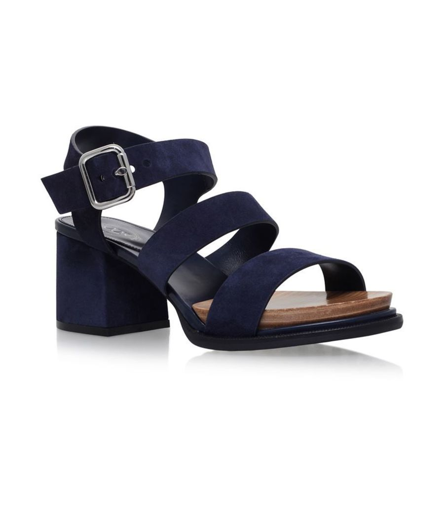 Tod'S, Gomma Suede Strap Sandals, Female