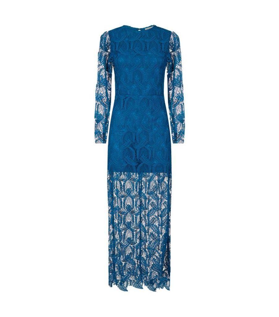 Maje, Rosane Lace Midi Dress, Female