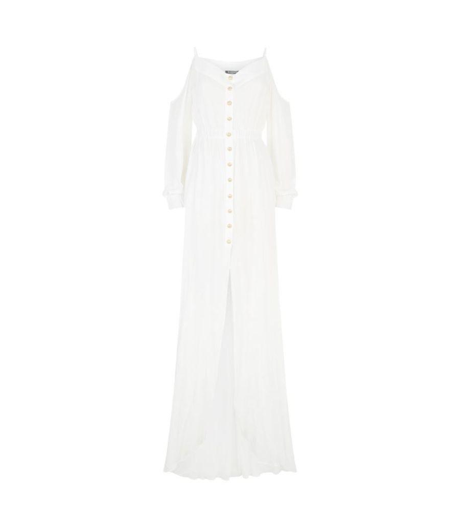 Balmain, Cold Shoulder Maxi Dress, Female