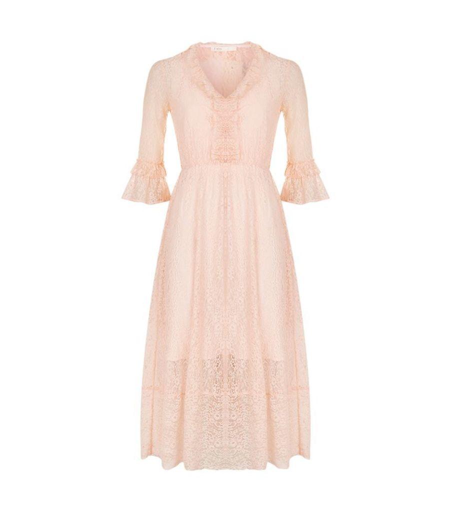 Maje, Romancia Lace Midi Dress, Female
