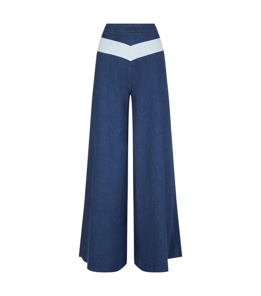 Maje, Flared Denim Jeans, Female