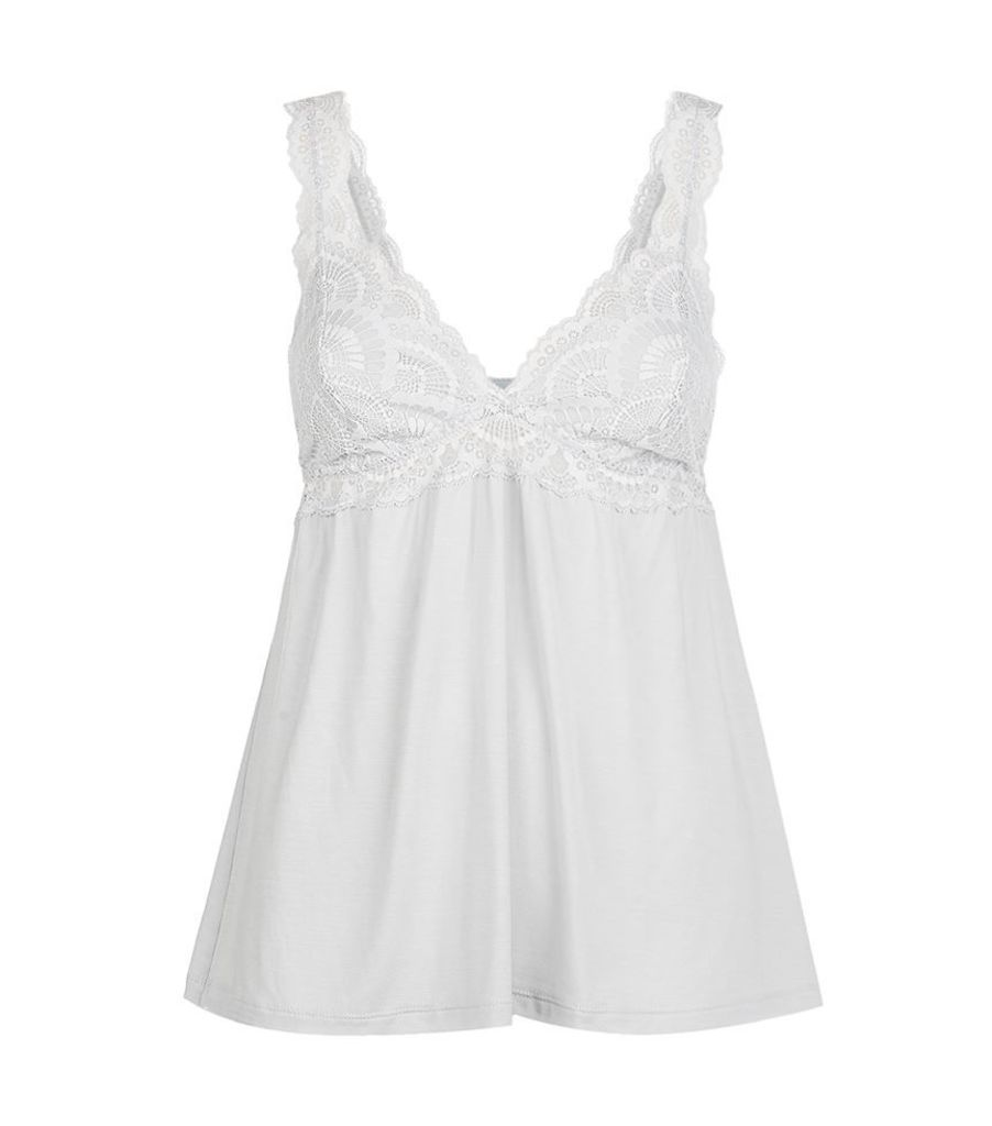 Eberjey, Lace Trim Camisole Pyjama Top, Female