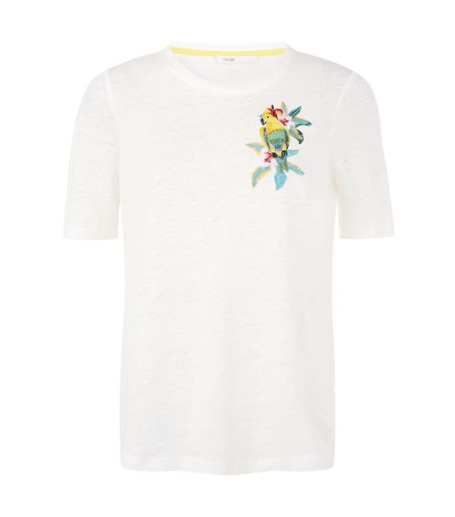 Maje, Tao Parrot Embroidered T-Shirt, Female