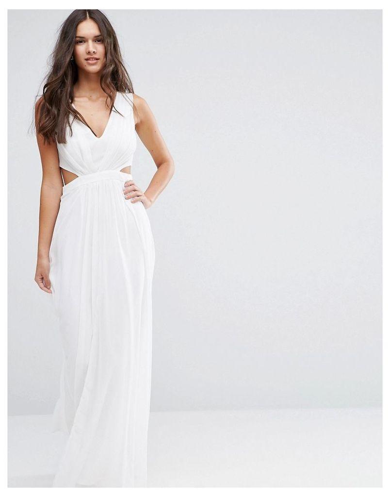 ASOS Side Cut Out Maxi Dress - White