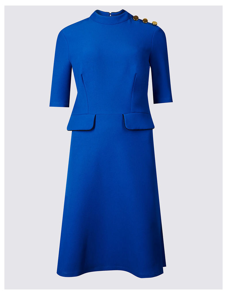 M&S Collection Contrasting Edge Button Swing Dress