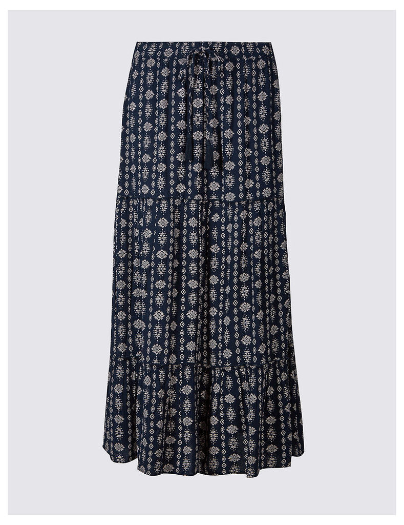M&S Collection Printed Straight Maxi Skirt