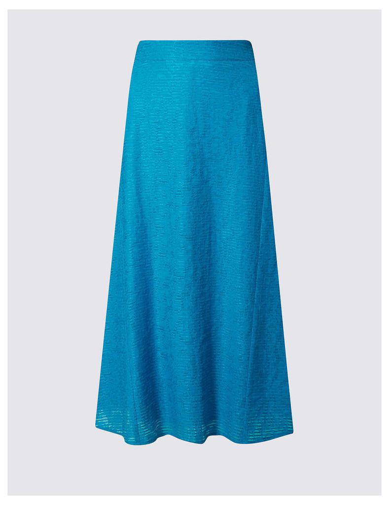 Classic Burnout A-Line Midi Skirt