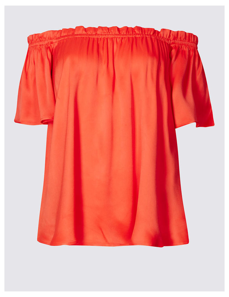 M&S Collection Off The Shoulder Short Sleeve Bardot Blouse