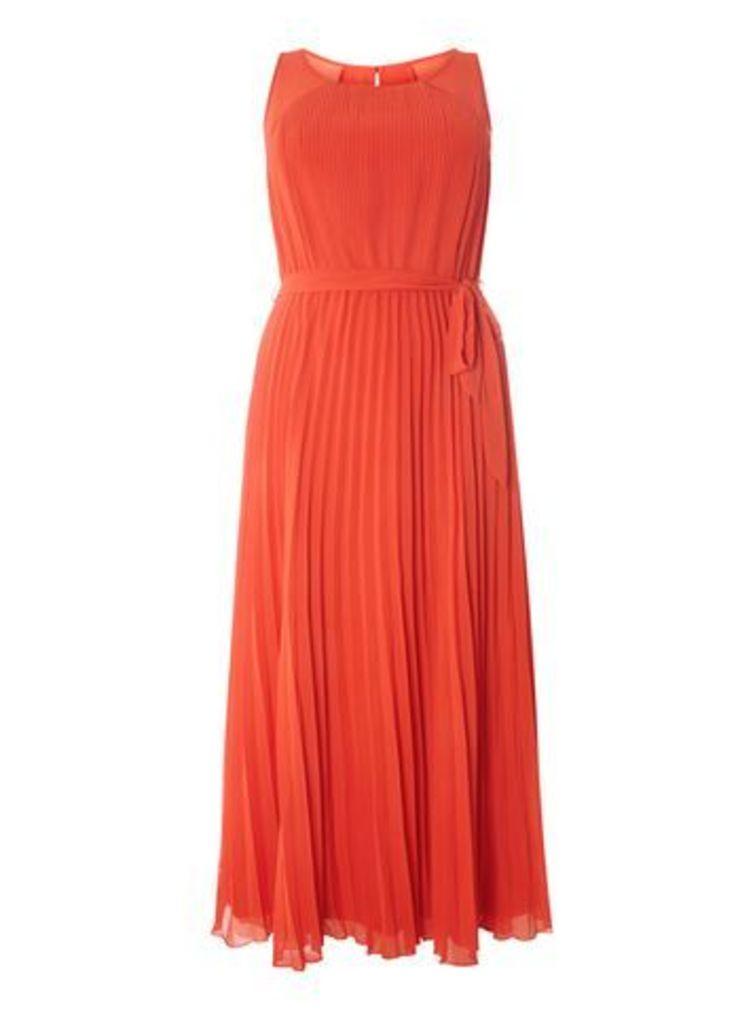 Lovedrobe Orange Pleat Maxi Dress, Orange