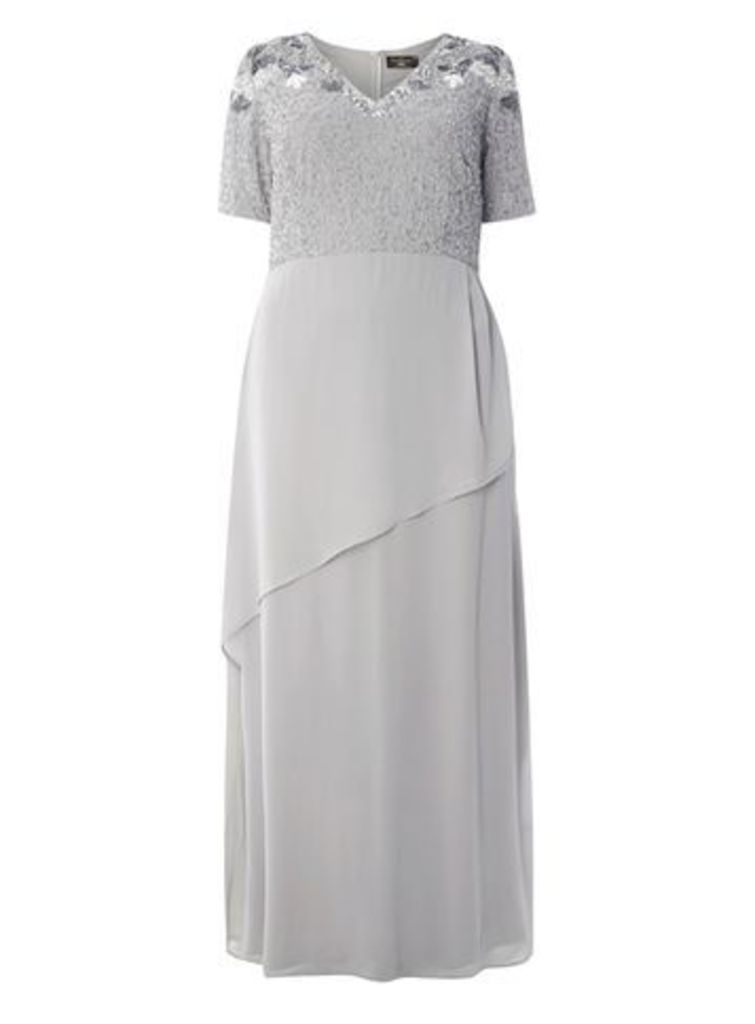 Lovedrobe Luxe Grey Maxi Dress, Grey