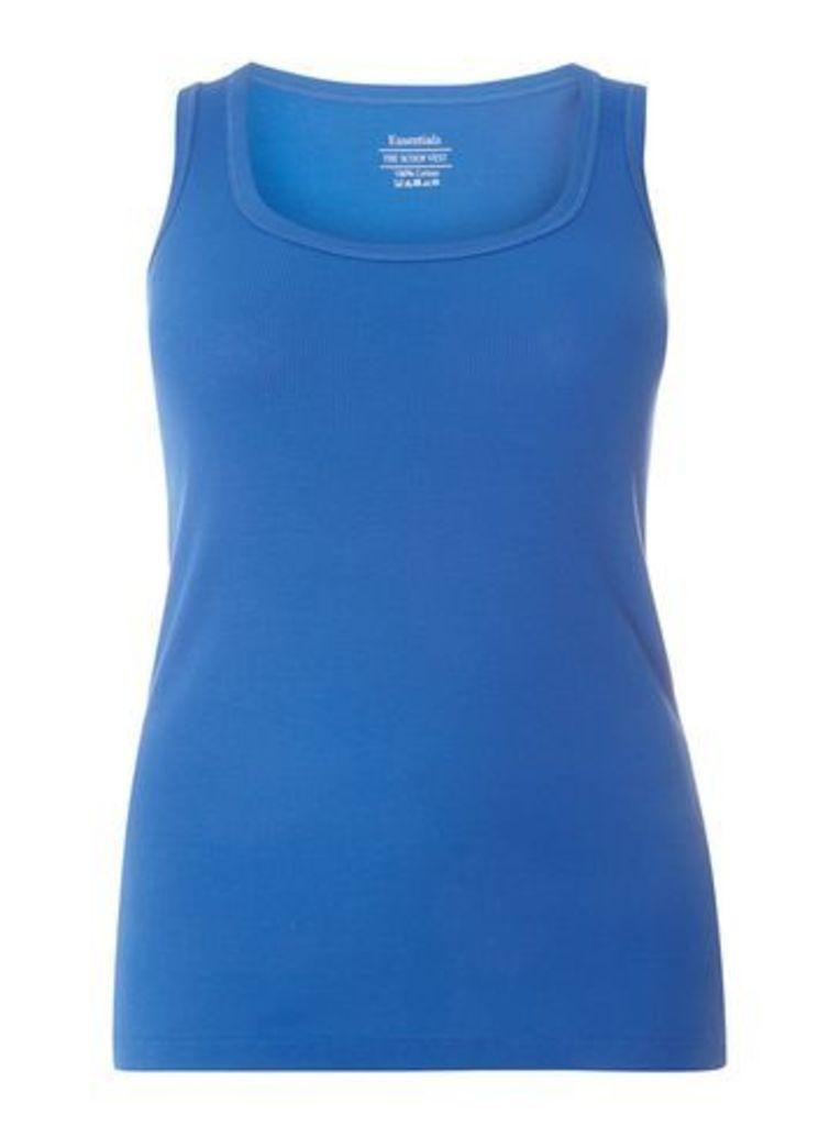 Cobalt Blue Ribbed Vest, Cobalt Blue