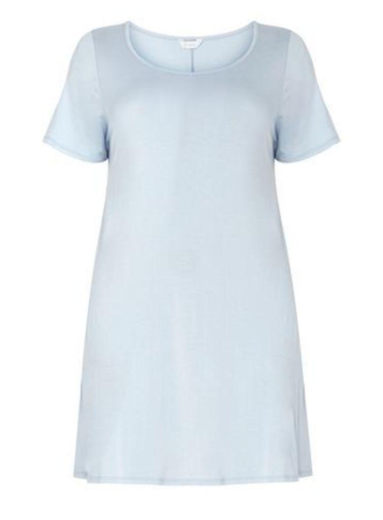 Blue Short Sleeve Tunic, Pale Blue