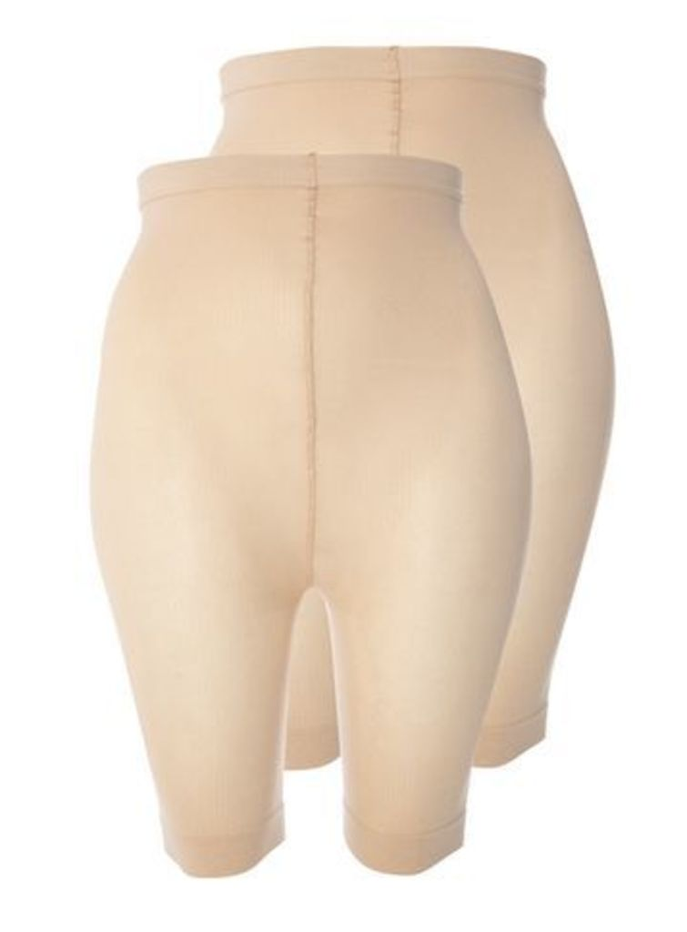 2 Pack Natural Comfort Shorts, Nude