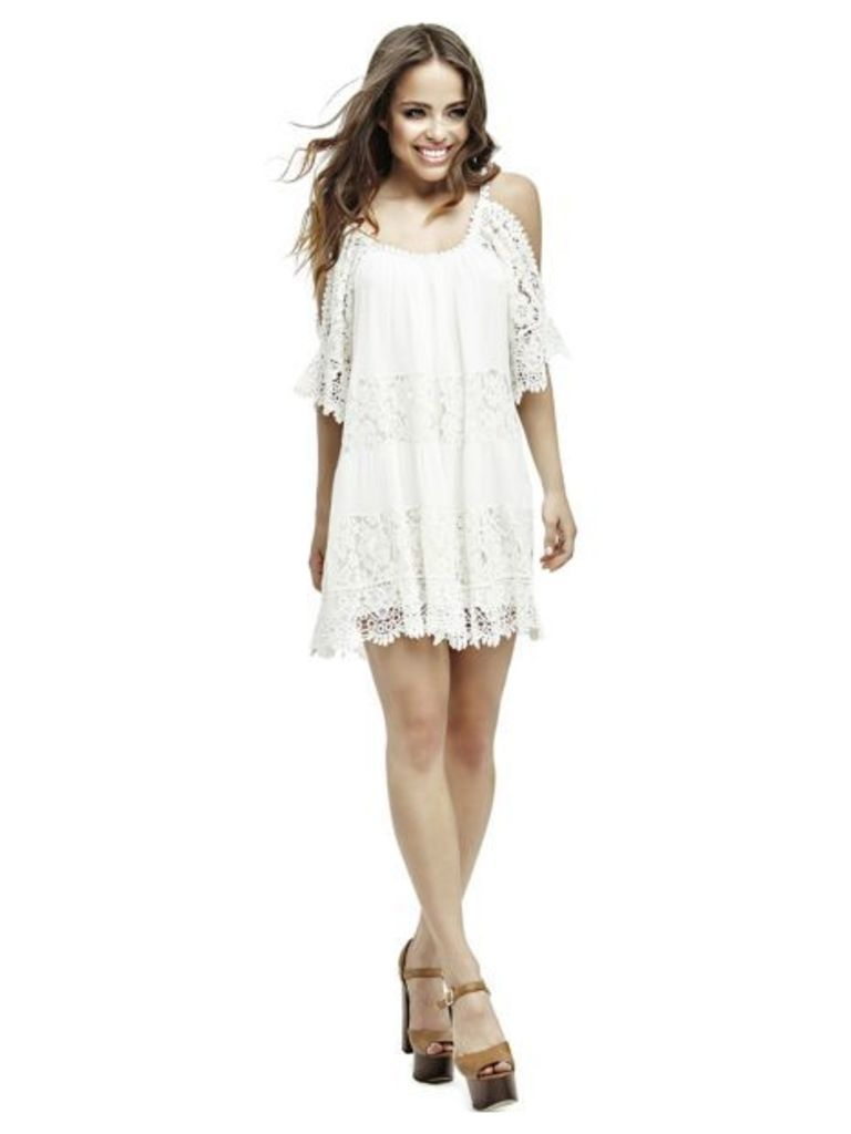 Guess Bare Shoulder Lace Dress