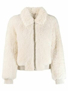 Isabel Marant shearling bomber jacket - White