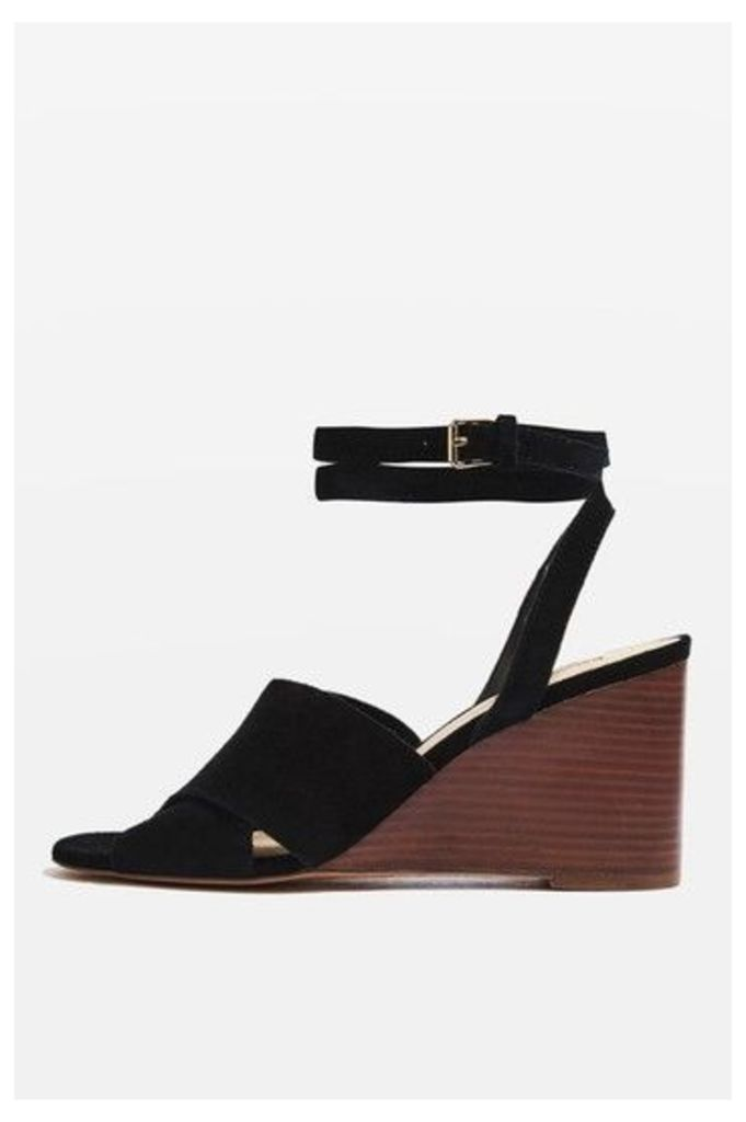 Womens WHIRL Crossover Wedges - Black, Black