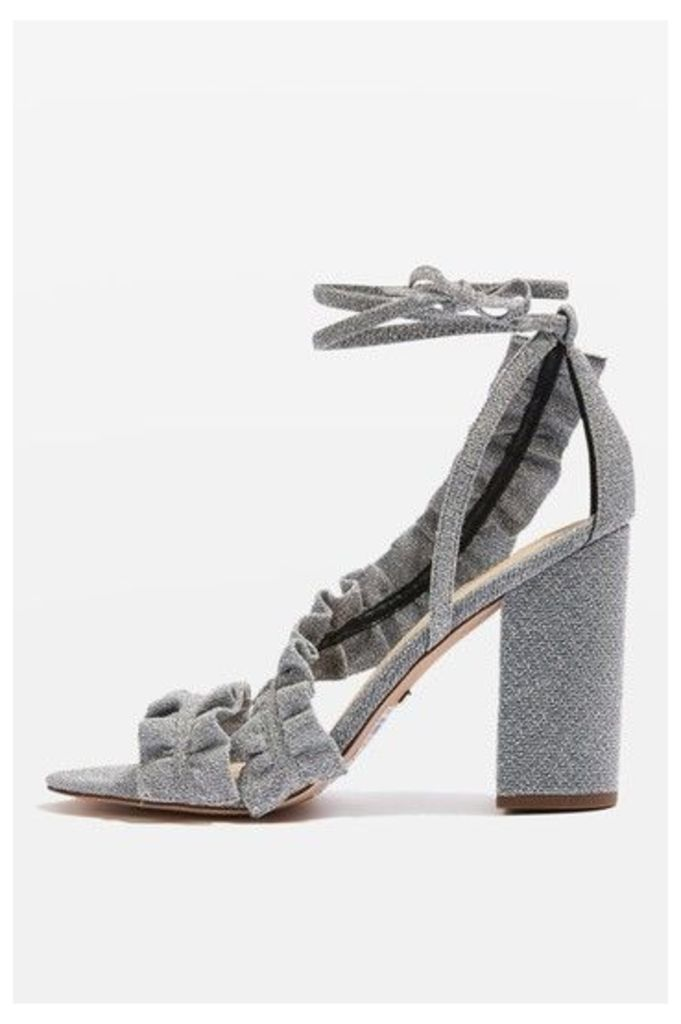 Womens REAL Frill Sandals - Silver, Silver
