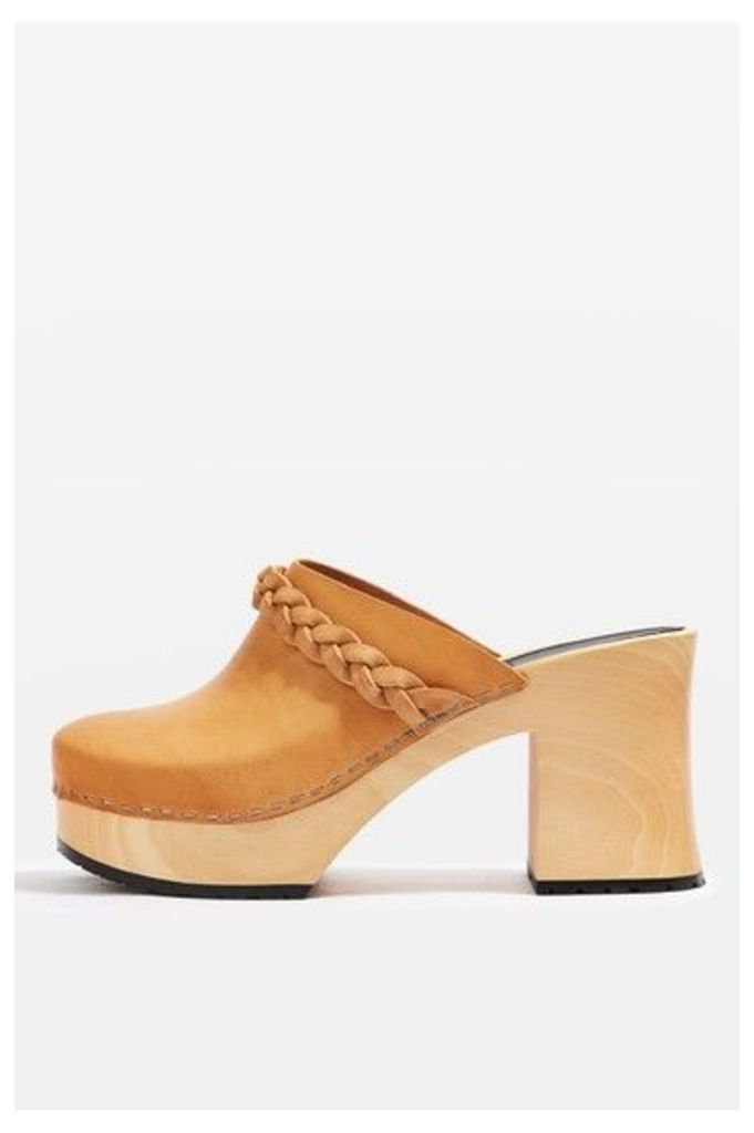 Womens LAILA Clog Mules by Swedish Hasbeens - Tan, Tan