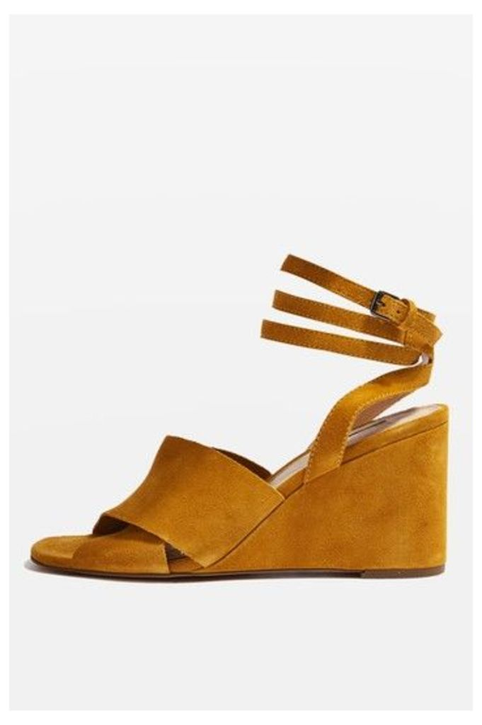 Womens WHIRL Crossover Wedges - Yellow, Yellow
