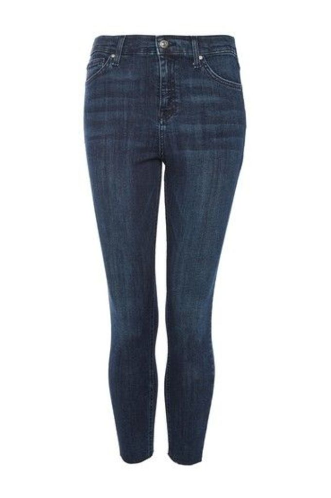 Womens PETITE Raw Hem Jamie Jeans - Indigo Denim, Indigo Denim
