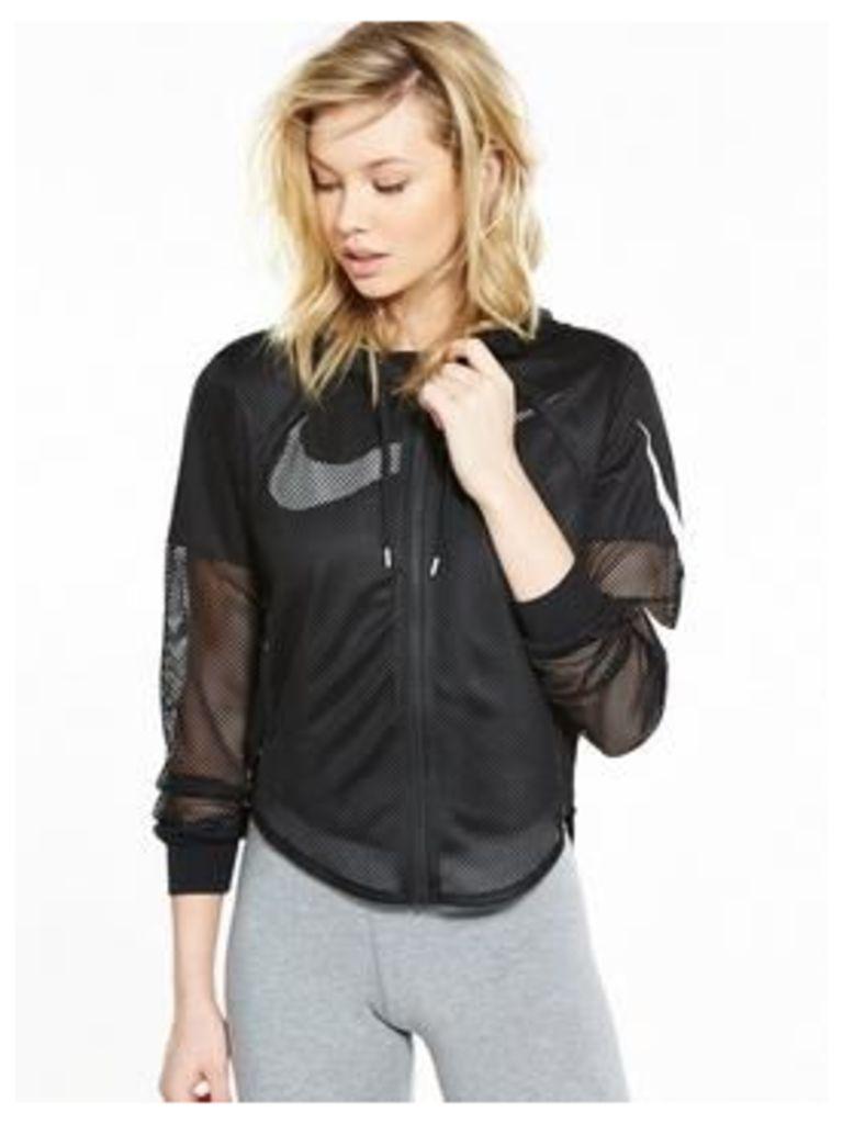 Nike Sportswear Cropped Mesh Jacket - Black