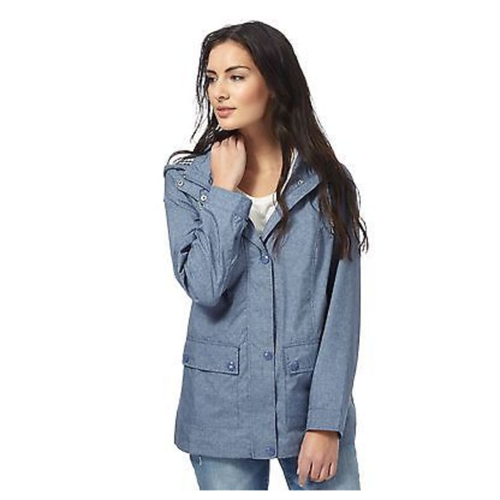 Maine New England Womens Blue Gingham Lined Jacket From Debenhams