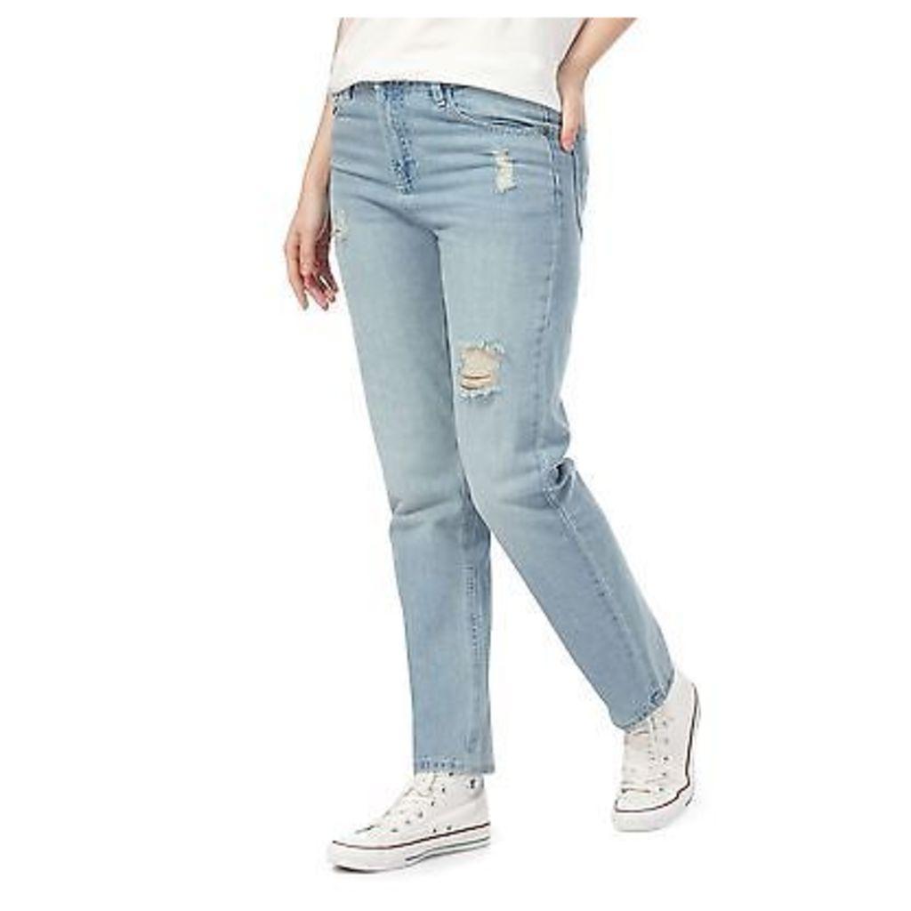 Noisy May Womens Blue Straight Fit Jeans From Debenhams