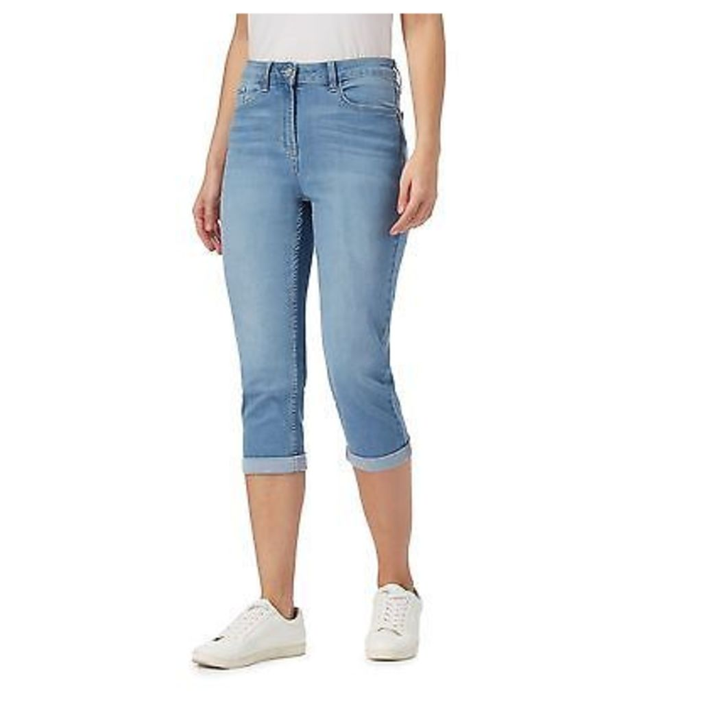 The Collection Womens Light Blue Cropped Jeggings From Debenhams