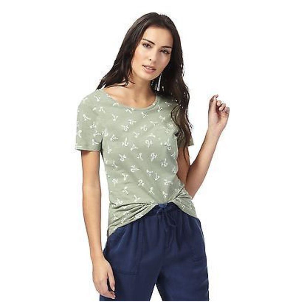 The Collection Womens Green Hummingbird Print T-Shirt From Debenhams