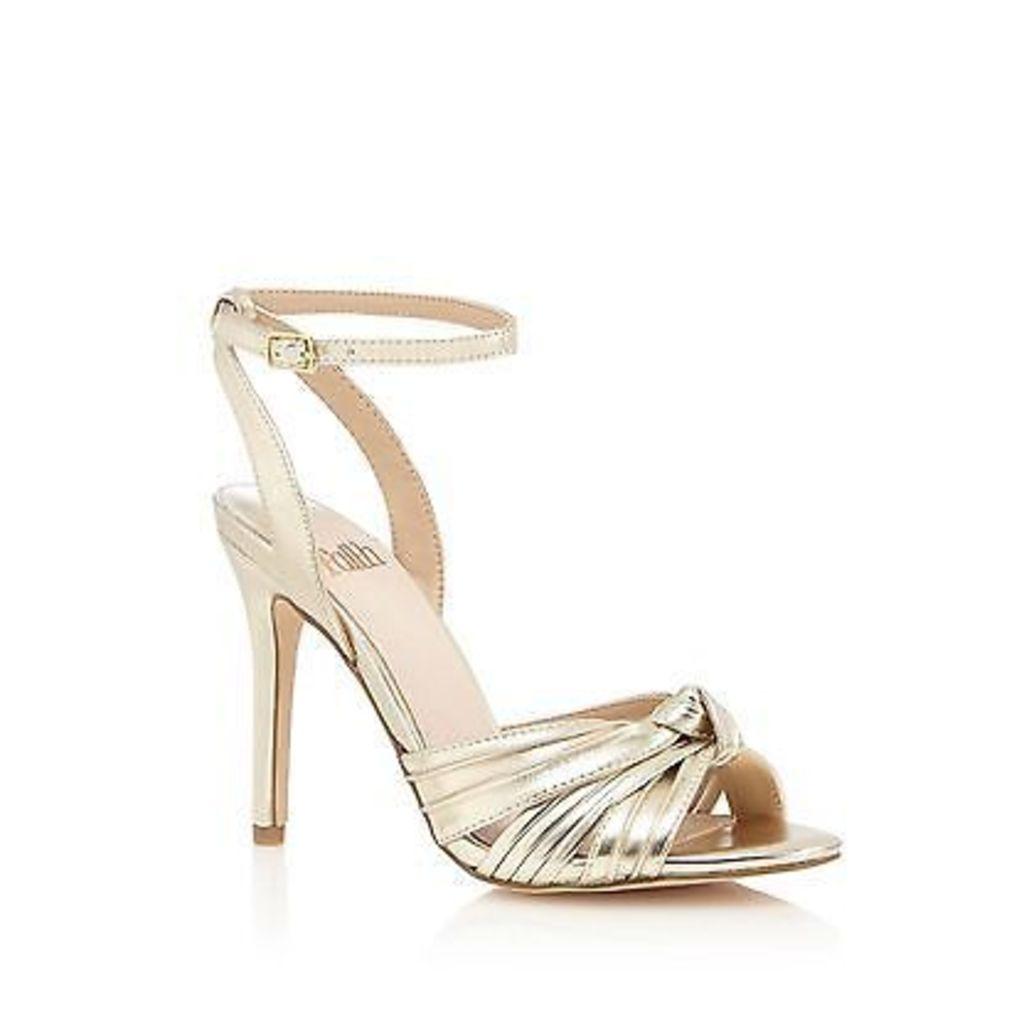 Faith Gold 'Drama' High Stiletto Heel Ankle Strap Sandals From Debenhams