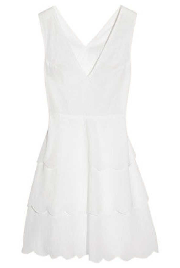 Marysia - San Onofre Tiered Cotton-voile Dress - Off-white