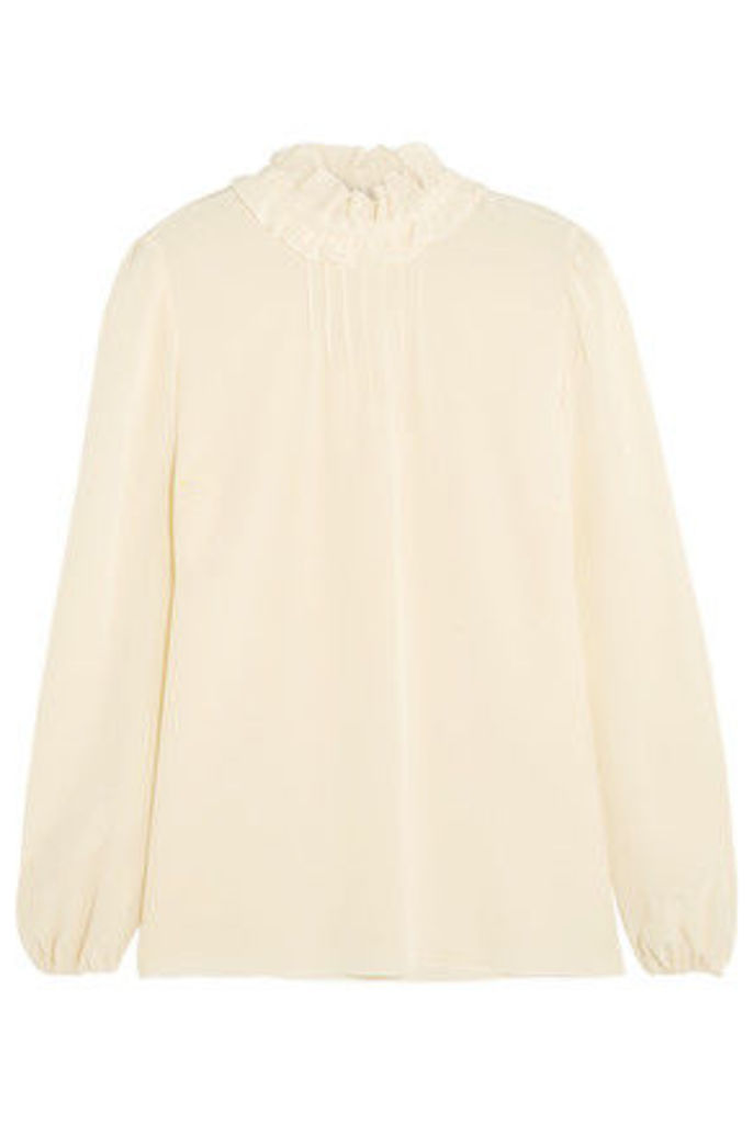 REDValentino - Ruffled Silk Crepe De Chine Blouse - Cream